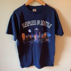 Sleepless in Seattle Vintage 90's Tee